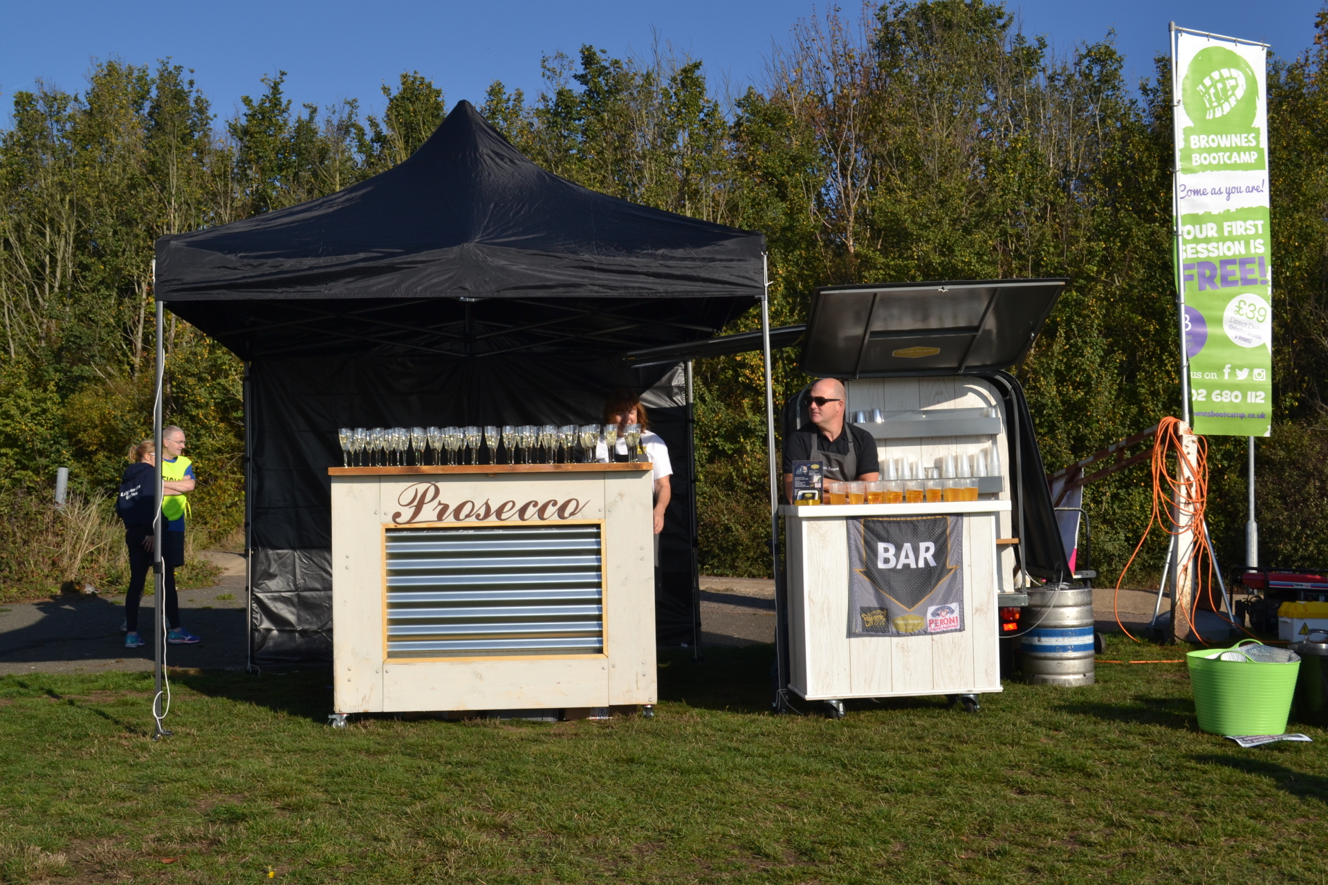 Leigh on Sea 10k, with one of our festival style bars in use.
